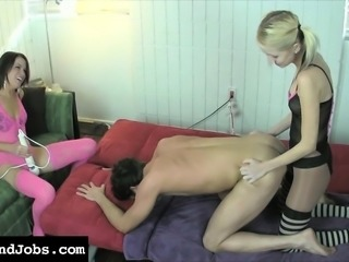 Kinky young guy unleashes his anal desires with Cammy and Rene Phoenix