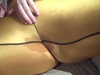 Sexy BBW Fingering Her Wet Pussy Through Spandex