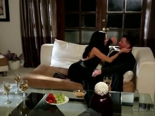 Naughty swinger housewives share their men at the party