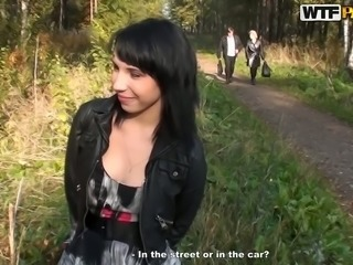 Hot pick up fucking in the forest/Lina