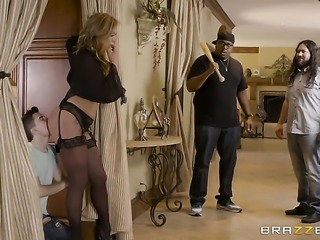 Blonde with big tits gets a fuck with hot bang buddy
