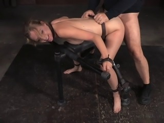Slave with nice ass throbbed hardcore doggystyle in BDSM