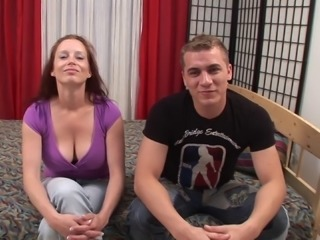 Naturally busty hussy Carol lets a guy fuck her hairy cunt from behind