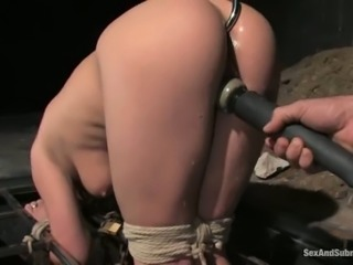 That spreader bar is so perfect for this slave Denice