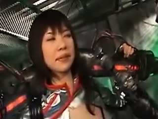 Asian heroine is tied up by aliens and subject to weird sex