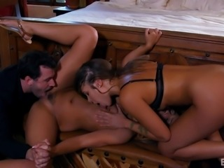 Jaye Summers and Liza Rowe recently had their first threesome with James...