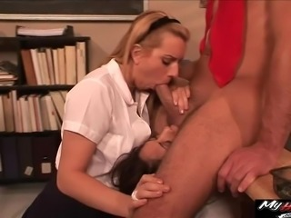 Coco Velvett and Lexi Belle are having threesome with hot assistant coach