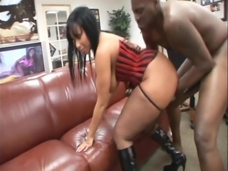 Light Skin BBW Ebony Fucked Doggystyle On Desk In Office