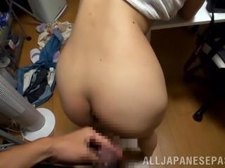 Cute Japanese Teen Gets Fucked by Her Boss on the Job