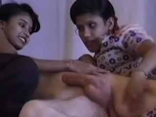 Indian amateur sex tape of a hot threesome glory