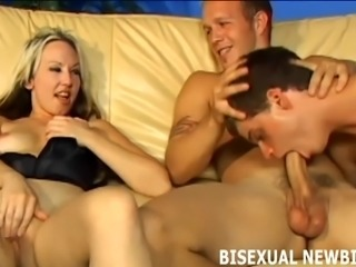 This bisexual threesome will be amazing