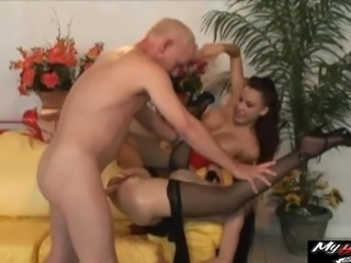 Kinky threesome session with Ange and Layla Rivera