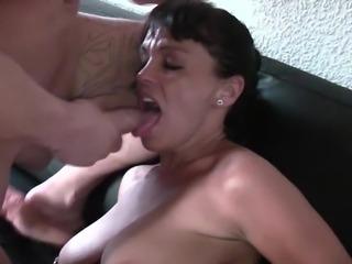 Hot big tit MILF Manu doggy fisting