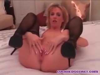 Cuckold Sissy Secret Getting off watching wife with BBC bull