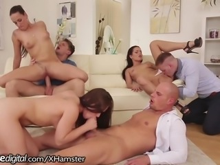 DogHouse Hot Euro Orgy with Anal and Facials!