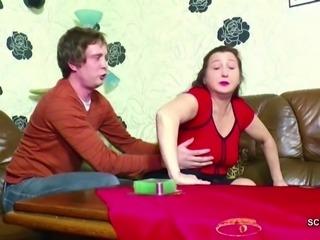 Step-Son Seduce German Mom to Fuck her