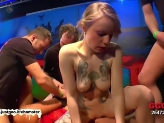Blonde vs Brunette Cum Sluts - German Goo Girls