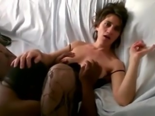 Great nipples wife looks at hubby while black eats her