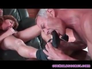Cuckold Secrets Sissy husband enjoying watching bull fucking