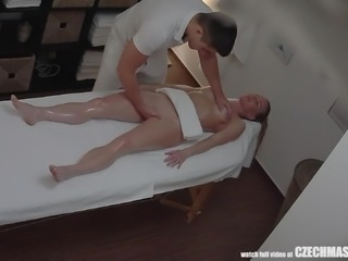 Forget the massage. This babe wants more from her masseur. He gave her a...