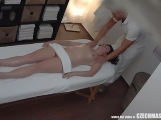 horny babe gets fucked by the masseur