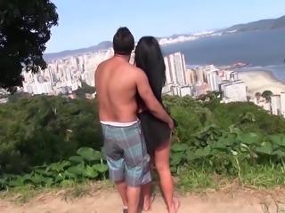 Sexy Brazilian with incredible tits fucking hardcore