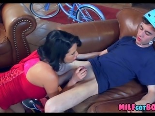 Horny Cougar Sucks off 18 Year Old