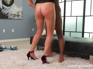 Amateur Fucking Her First Black Guy For A Job!