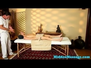 Cocksucking massage babe filmed on spycam