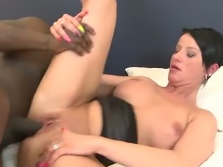 Fuck hungry African dude butt fucks saucy European housewife Michaela in a...