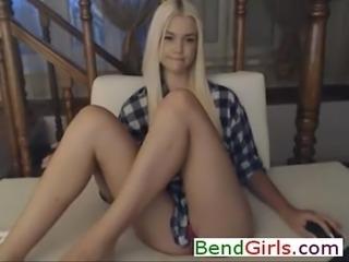 Shy Blonde Teasing