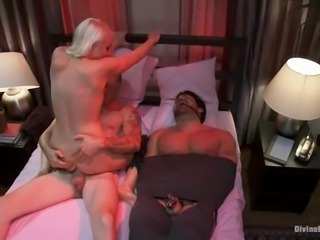 Adorable Lorelei Lee fucks her lover in front of a tied up hubby
