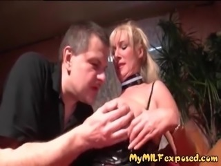 My MILF Exposed Busty blonde Euro MILF riding cock