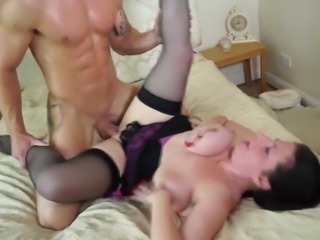 Taboo home story with a mature mother