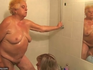 OldNanny Chubby granny bathed and then has threesome