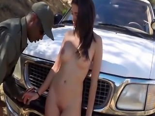 Hot Brunnette Latina Babe Fucked By the Law at the border