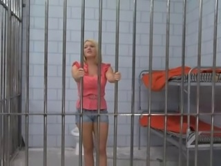 Blonde Hottie Jailed Then Fucked By Big Cock