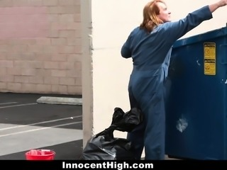 InnocentHigh- Cheerleader Gets Fucked By Janitor