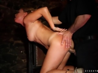 Throated and fucked hard in handcuffs