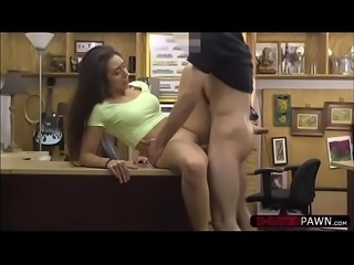 Horny latina chick Lilly Hall gets banged by Shawns assistant