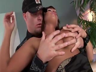 Hot Brooke Belle rides a massive dong