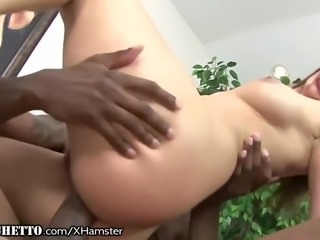 WhiteGhetto British Amateur Assfucked by BBC