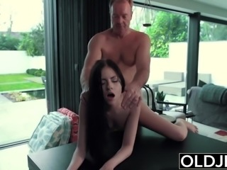 Hardcore Fuck For Teen Sucking cock swallows cumshot