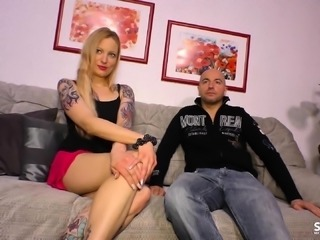 SEXTAPE GERMANY - A reality tape from German blonde sucking
