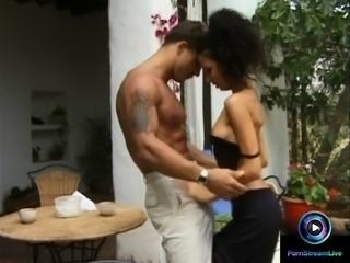 Krystal de Boor and Sandy shares a cock