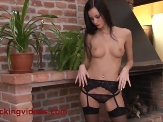 Married Exhibitionist Eveline Neill with a dildo in her ass