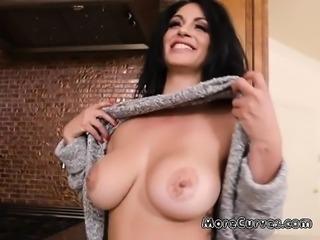 Curvy Babe Cristal Caraballo Devours Big Cock Of Plumber