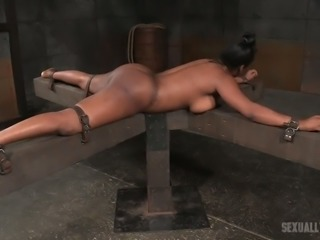 Bootylicious slave Lisa Tiffian is getting ruthlessly fucked by two masters