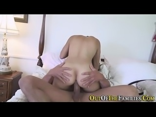 Real ebony stepdaughter