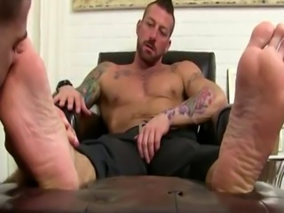 Gay feet naked gallery first time Hugh Hunter Worshiped Until He Cums